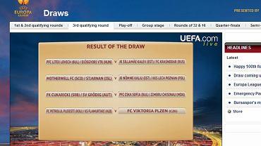 Losowania III rundy kwalifikacji Ligi Europejskiej