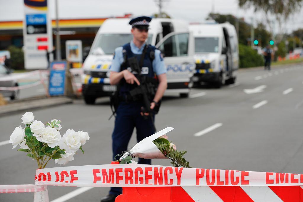 Policja po zamachu w Christchurch