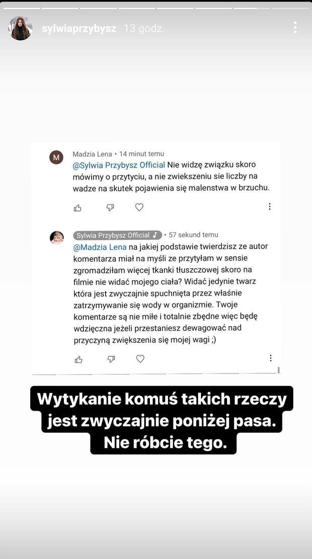 Fani krytykują Sylwie Przybysz