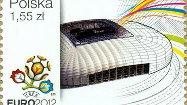 Znaczki ze stadionami Euro 2012