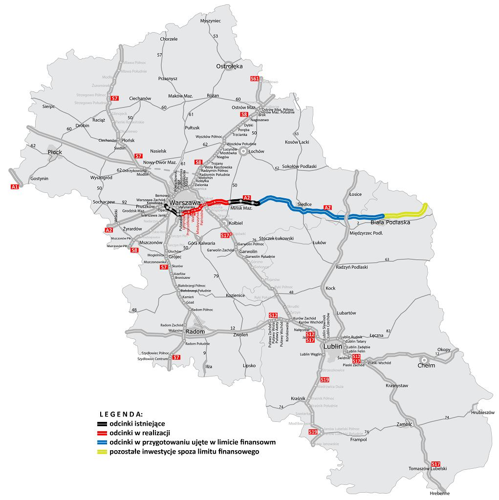Postęp prac związanych z budową mostu będącego częścią Południowej Obwodnicy Warszawy