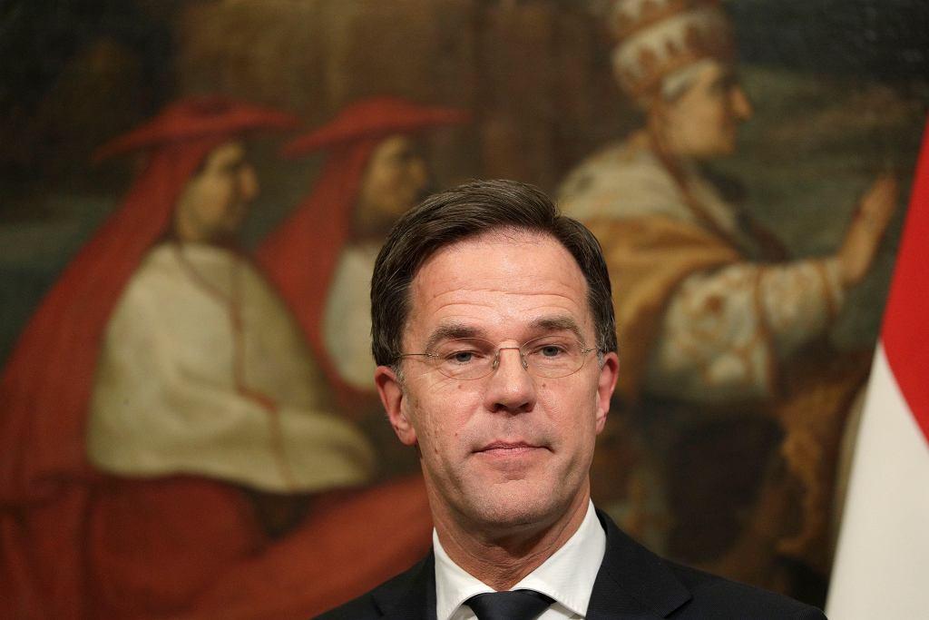 Niderlandy po raz pierwszy przeprosiły za prześladowanie Żydów w czasie II wojny światowej. Na zdjęciu premier Mark Rutte