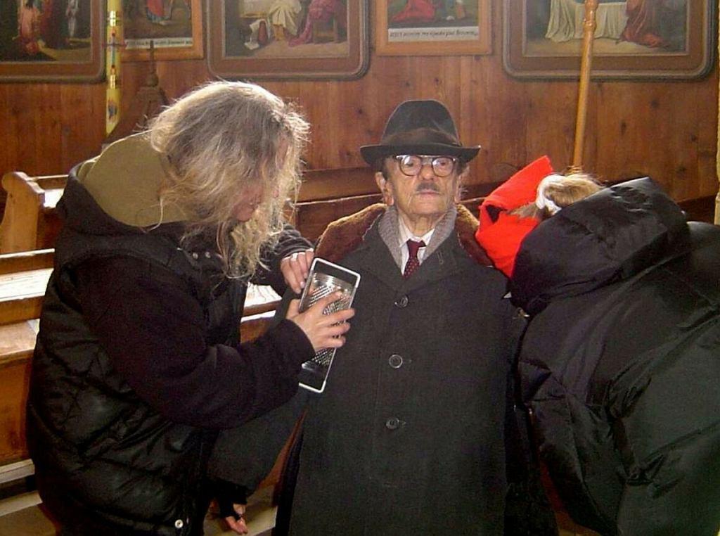 Krystyna Feldman na planie filmu 'Mój Nikifor'