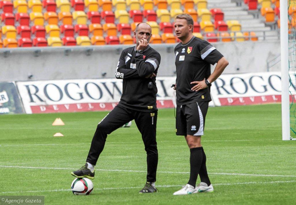 Trening Jagiellonii. Michał Probierz i Krzysztof Brede