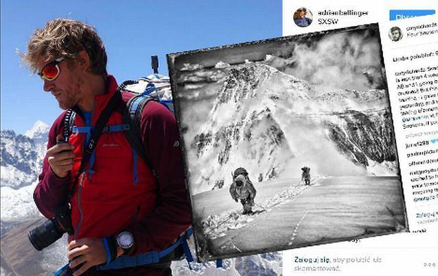 Cory Richrds i jego zdjęcie z projektu #everestnofilter