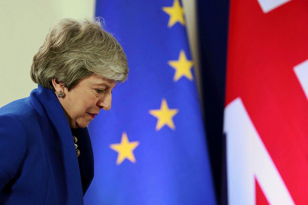 Premier Wielkiej Brytanii Theresa May podczas szczytu UE. Przesunięto datę wyjścia Wlk. Brytanii z UE z 12 kwietnia na 31 października. Bruksela 11 kwietnia 2019