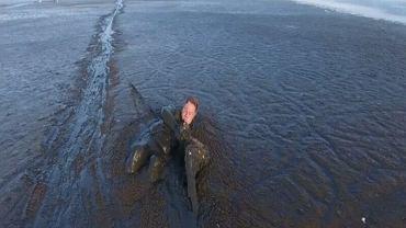 Brawurowa akcja pana Krzysztofa uratowała bielika, fot. Yotube/iswinoujscie
