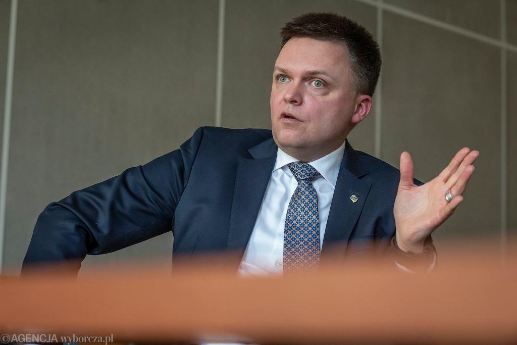Szymon Hołownia o Kaczyńskim: pokazał środkowy palec Polkom i Polakom
