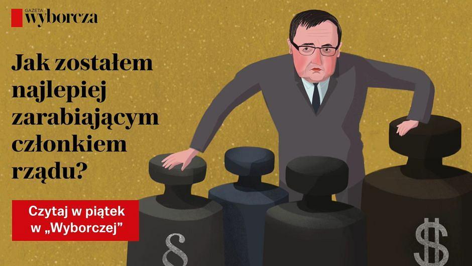 'Dojna zmiana Ziobry'. Dziennikarskie śledztwo Wojciecha Człuchnowskiego w piątek w 'Wyborczej'