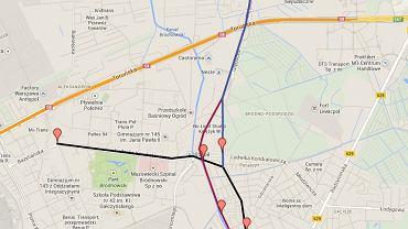 Warianty przybiegu II linii metra na Bródno i Białołękę