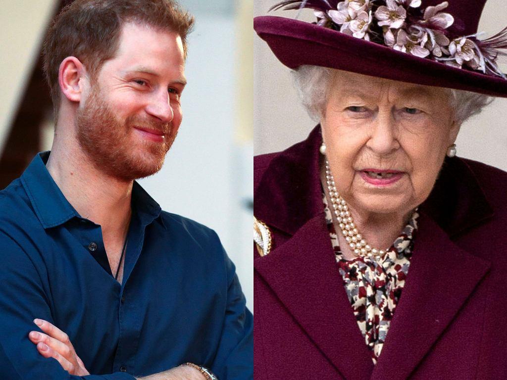 Książę Harry, królowa Elżbieta II