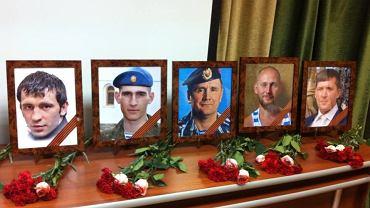 Ceremonia pożegnania żołnierzy rosyjskich poległych na Ukrainie