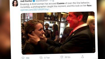 USA. Trzecia kobieta oskarżyła gubernatora Andrew Cuomo o molestowanie