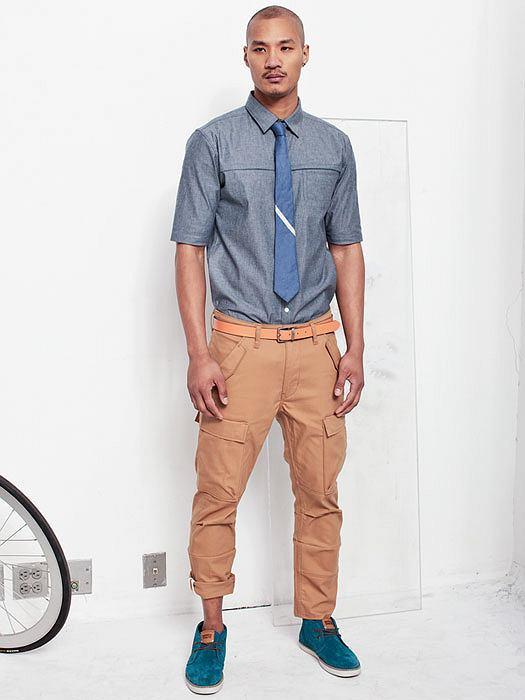 Styl: co nosimy tego lata, styl, moda męska, Z kolekcji Levi's: spodnie - cena: 399 zł, koszula - cena: 329 zł