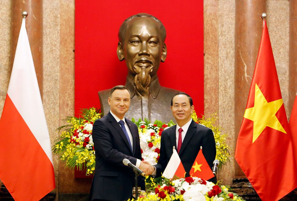 Prezydent Andrzej Duda i prezydentem Wietnamu Tran Dai Quang