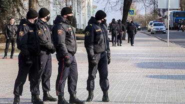 25.03.2021, Mińsk, milicja na ulicach.