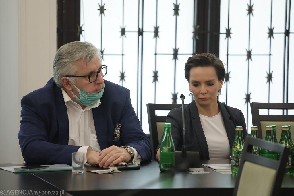 Tomasz Kowalczewski i prezeska Polskiego Radia Agnieszka Kamińska