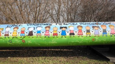 Zniszczony mural przy ul. gen. Rozwadowskiego na Targówku Przemysłowym