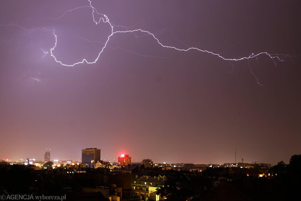 Burze z gradem w poniedziałek na Podkarpaciu. (zdjęcie ilustracyjne)