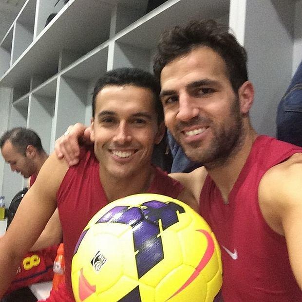 Cesc i Pedro, którzy wygrali mecz z Getafe
