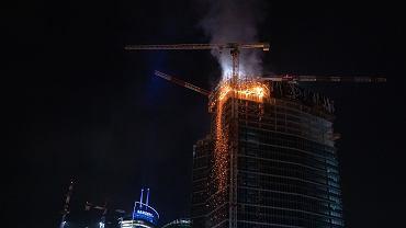 Pożar Warsaw Hub na Woli