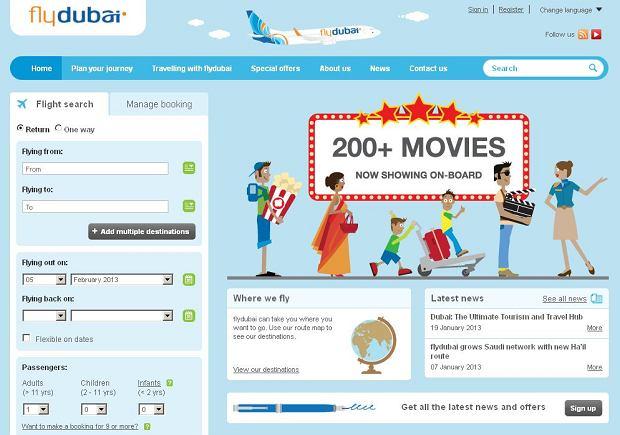 Flyidubai.com / fot. print screen ze strony internetowej