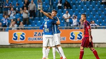 Lech Poznań - Videoton Szekesfehervar 3:0 w pierwszym meczu IV rundy eliminacji do Ligi Europy. Denis Thomalla, Tomasz Kędziora