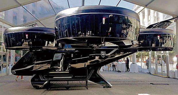 Latająca taksówka Bella z napędem hybrydowym i sześcioma gigantycznymi wirnikami