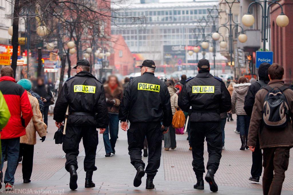 Patrol policji w Katowicach