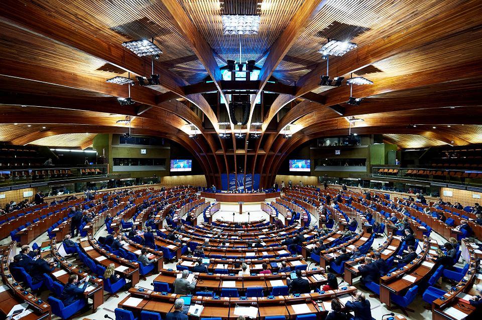 Sesja plenarna Zgromadzenia Parlamentarnego Rady Europy w Strasburgu.