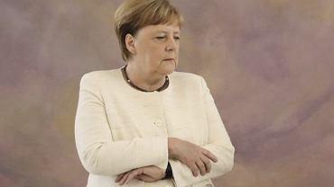 Angela Merkel podczas spotkania z prezydentem Niemiec