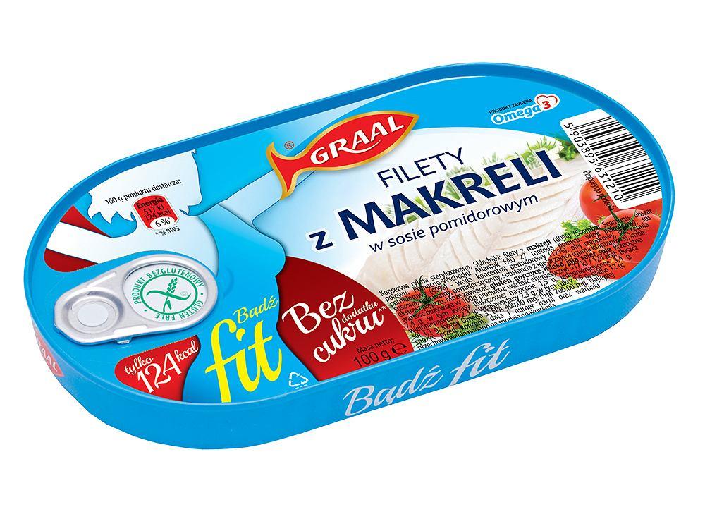 Graal Fit Filety z makreli w sosie pomidorowym