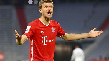 Spięcie Thomasa Muellera z dziennikarką po klęsce Bayernu.