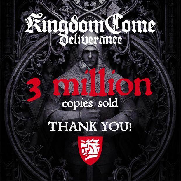 Kingdome Come: Deliverance sprzedao się w 3 mln kopii