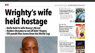 """Tekst """"The Sun"""" o napadzie na rodzinę Iana Wrighta"""