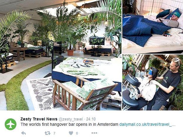 Zdjęcie numer 2 w galerii - W Amsterdamie powstał kac-bar. Dla imprezowiczów to istny raj na ziemi