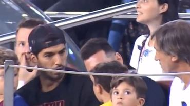 Luis Suarez zaskoczony zachowaniem syna Leo Messiego
