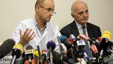 Konferencja prasowa w klinice w Grenoble dotycząca stanu zdrowia Michaela Schumachera