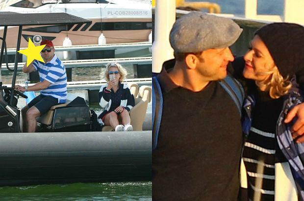 Zdjęcie numer 0 w galerii - Borys Szyc przewiózł Reni Jusis i Makowieckiego swoją łódką. Gdy zobaczyli paparazzo... Potem aktor z partnerką dali się ponieść chwili. Iskrzyło!