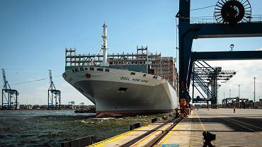 W Gdańsku pojawił się największy kontenerowiec świata.