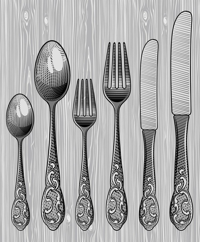 Sztućce to podstawowy element wyposażenia kuchni