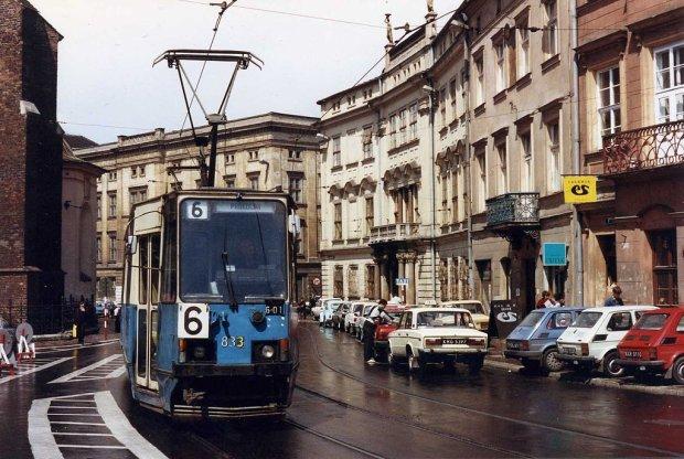 Kraków w maju 1991 roku/ Fot. CC BY-SA 2.0/ O/ Flickr.com