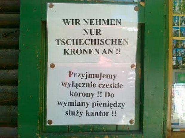 Informacja jest dla Niemców trochę inna, niż dla Polaków