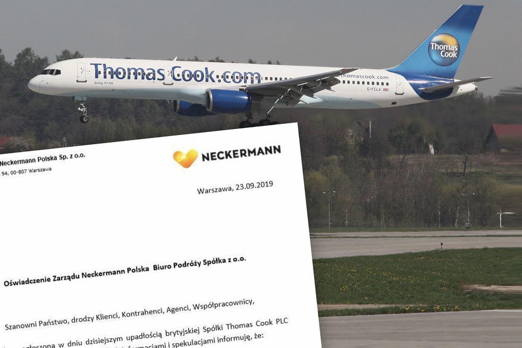Neckermann Polska wydał oświadczenie w związku z bankructwem spółki Thomas Cook