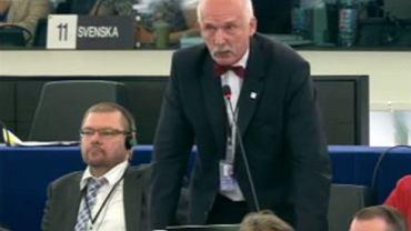Janusz Korwin-Mikke przemawia w PE