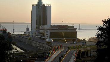 Odessa - widok na port nad morzem Czarnym