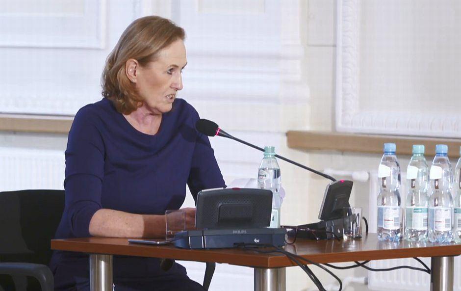 Szefowa Rady Warszawy Ewa Malinowska-Grupińska przed komisją Patryka Jakiego