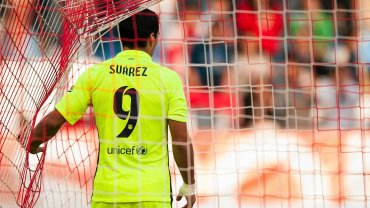 Almeria - Barcelona. Luis Suarez