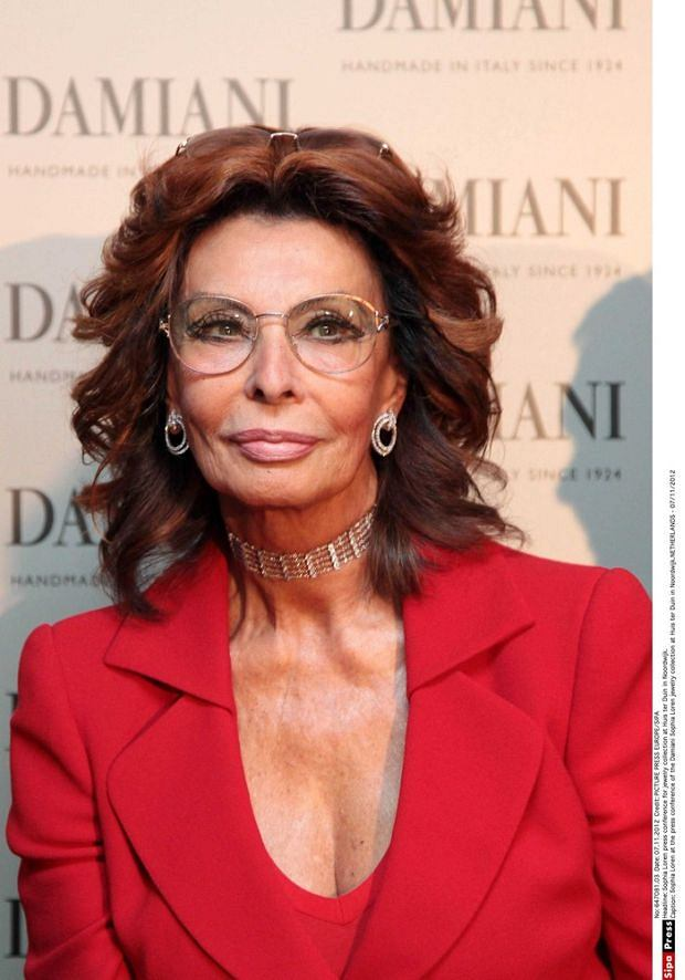 Sophia Loren at the press conference of the Damiani Sophia Loren jewelry collection at Huis ter Duin in Noordwijk.NETHERLANDS - 07/11/2012