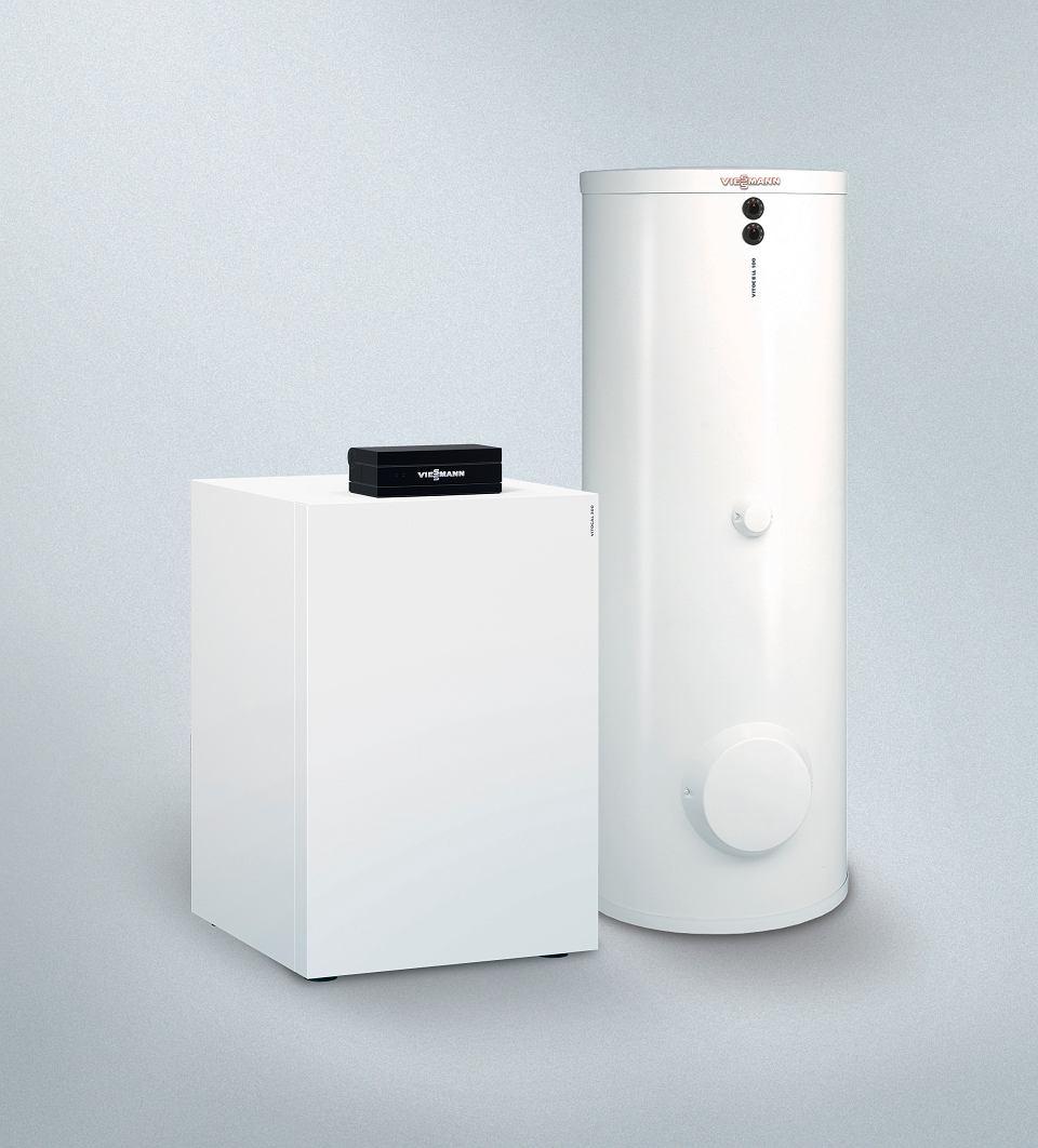 Pompa ciepła solanka-woda Vitocal 300-G z oddzielnym zasobnikiem ciepłej wody Vitocell 100-W